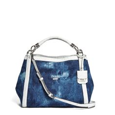 a6003ddcdcf GUESS Shelly Denim Satchel ( 110) ❤ liked on Polyvore featuring bags,  handbags,
