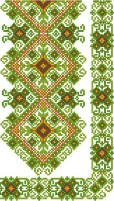 Love this variation of colour. Cross Stitch Borders, Cross Stitch Designs, Cross Stitching, Cross Stitch Embroidery, Cross Stitch Patterns, Embroidery Patterns Free, Loom Patterns, Beading Patterns, Embroidery Designs