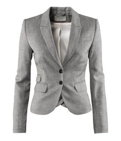 Grey blazer. Doesn't get better.