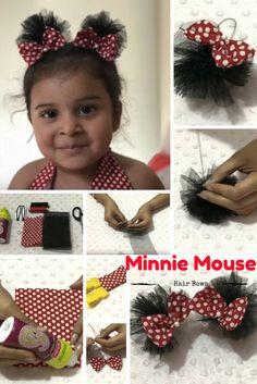 #minniemouse #hairbow #hairclips #DIY #cute