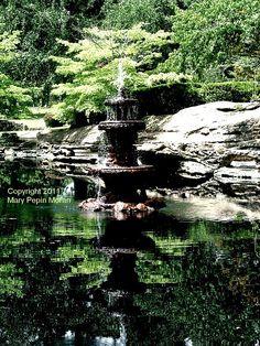 Fountain at Memorial Park Cemetery, Memphis TN
