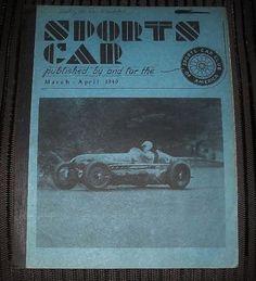Super RARE MARCH - APRIL 1949 SPORTS CAR Magazine SCCA Hard to Find FREE US Ship