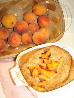 Mom's Three Step Vegan Peach Cobbler #vegan #desserts #cobbler #recipe