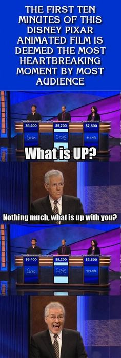"The joke itself isn't as funny as Alex breaking character with that face. (And I don't know if this was really on the show or just generated for a meme. I find it hard to believe Jeopardy would forget the final s in ""audiences."""