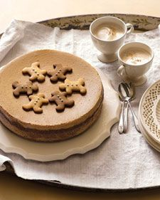 Top this cake with both Honey-Gingerbread and Molasses-Gingerbread Cookies. See Shaped Gingerbread Cookies for how to make the gingerbread men. Because you will use the molasses-gingerbread dough for the crust, you can make all the cookies from the same dough.