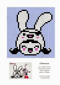 Free Hama Beads Pattern by Soniation - Anime Fuse Bead Patterns, Perler Patterns, Beading Patterns, Cross Stitch Patterns, Kawaii Cross Stitch, Tiny Cross Stitch, Beaded Cross Stitch, Pixel Beads, Fuse Beads