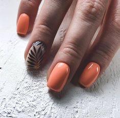 Short Nails Ideas For Summer & Spring - Page 5 of 19 - Vida Joven Peach Colored Nails, Peach Nails, Short Nail Manicure, Pedicure Nail Art, Nail Drawing, Short Square Nails, Square Nail Designs, Short Nails Art, Dipped Nails