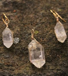 Double Terminated Herkimer Diamond Crystal by WanderingRockDesigns $60 pinterest mini mall viral board etsy