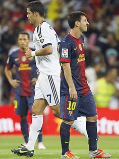 The worlds best players, Cristiano Ronaldo and Lionel Messi, will meet again Sunday. Lionel Messi, Cristiano Vs Messi, Cr7 Vs Messi, Messi And Ronaldo, Messi Soccer, Good Soccer Players, Football Players, Real Madrid, Magick