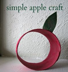 simple apple craft for kids