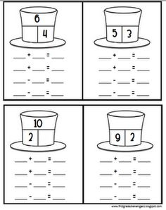 math worksheet : great idea for creating a number sentence search to practice basic  : Fact Family Addition And Subtraction Worksheets