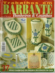 Josi Artesanatos: Revista Trabalhos Em Barbantes Banheiros e Cozinha Nº55