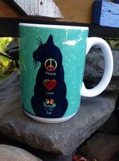 Ceramic Mug – Peace Love Cat