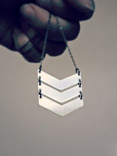Chevron necklace  tribal jewelry  triple by UntamedMenagerie, $18.00