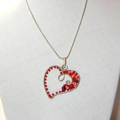 Wire heart pendant for Valentines
