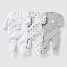 Pyjama velours (lot de 3) 0 mois-3 ans
