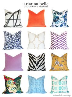 newest pillows at www.ariannabelle.com/shop