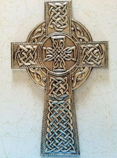 Celtic cross in pewter