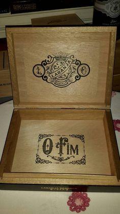 Cigar Box Black & Gold Laranja Low Chest by IndustrialPlanet