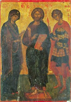 Deisis to Christ with the Most-Holy Theotokos and St. Phanourios the Great Martyr and Newly-revealed  ( http://pravicon.com/images/sv/s2032/...