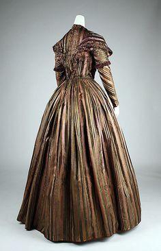 Dress  Date: 1842 Culture: French (probably) Medium: silk