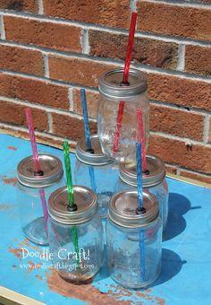 Doodle Craft...: DIY Mason Jar Straw Lids