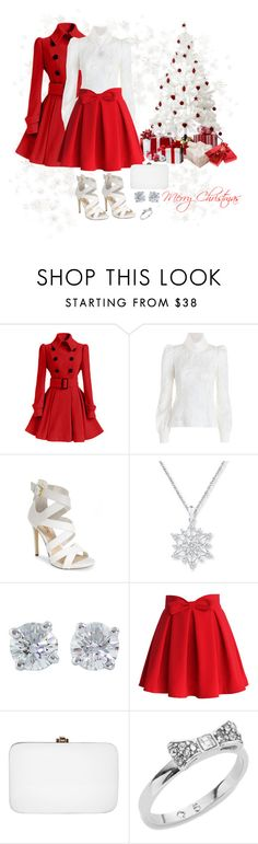 """""""Merry Christmas 1"""" by misshonee ❤ liked on Polyvore featuring Zimmermann, GUESS, Tiffany & Co., Chicwish, Rocio and Kate Spade"""