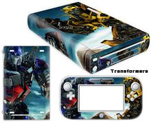 Transformers Vinyl Skin Sticker Protector for Nintendo Wii U and controller skins Stickers WiiU-0051
