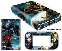 Transformers Vinyl Skin Sticker Protector for Nintendo Wii U and controller skins Stickers WiiU-0051