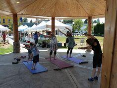 Arlington Farmers' Market at the market Legion Park, Arlington Washington, Farmers Market, Yoga, Marketing, Outdoor Decor