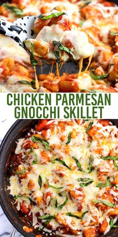 Parmesan Gnocchi Skillet is a total comfort food meal made all in one skillet. Less dishes to clean with saucy gnocchi, juicy chicken, and Parmesan and mozzarella cheeses. Top with fresh basil for serving and this gnocchi dinner will be a favorite! Chicken Gnocchi, Gnocchi Soup, Gnocchi Recipe With Chicken, Easy Gnocchi Recipe, Roasted Chicken, Cooking Recipes, Healthy Recipes, Parmesan, Comfort Food