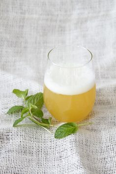Pineapple Mint Syrup : 1/2 cup brown sugar, 2 cups pineapple juice and 1 bunch of mint. Bring to a boil and let simmer 30 minutes.