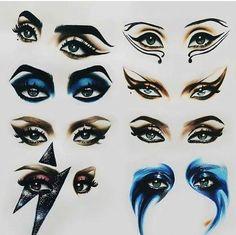 Gaga eyes #theatricalmakeup