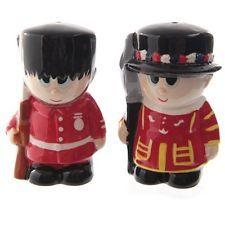 Salz- und Pfefferstreuer Guardsman & Beefeater Salzstreuer London England