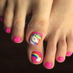50 Exciting Pedicure Ideas to Shake Things Up - Nails Girls Nail Designs, Orange Nail Designs, Pedicure Designs, Toe Nail Designs, Pedicure Ideas, Cartoon Nail Designs, Art Designs, Pink Pedicure, Pedicure Nail Art