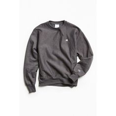 Champion Reverse Weave Fleece Crew Neck Sweatshirt ($49) ❤ liked on Polyvore featuring tops, hoodies, sweatshirts, embroidered sweatshirts, crewneck pullover, fleece crewneck pullover, crew-neck sweatshirts and crew neck pullover sweatshirt