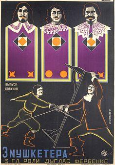 Three Musketeers (1927) by Vladimir and Georgii Stenberg.