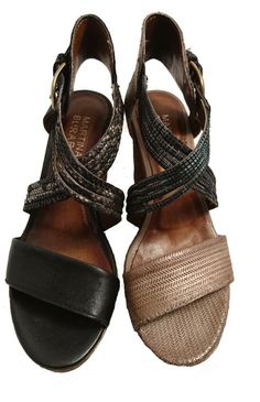 Italian leather heeled sandals for ladies by Martina Buraro. Buy it 63,20 €