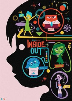Poster Posse official collaboration with Disney/Pixar for Inside Out by Matt Needle