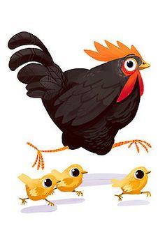 Hen and Chicks ~  Kim Draws