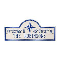 Personalised Coordinates Wall Plaque.  www.everythingnautical.com