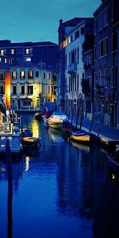 Venice at night. ...