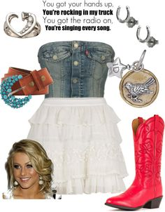 """country cutie with a rock 'n roll booty"" by brianna-may-whalen on Polyvore"