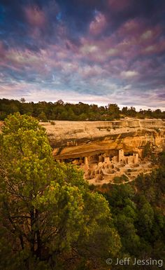 Cliff Palace is the largest of the cliff dwellings found in Mesa Verde, Arizona