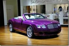 Purple Bentley for my 50th birthday. Actually I would rather have a truck;-)