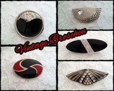 Broschen - *Vintage* Broschen 125-39+40+42+43 - ein Designerstück von raritaeten-kammerl bei DaWanda