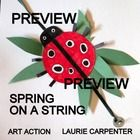 """""""Spring on a String"""" and easy-art craftivity ADDITIONAL IDEAS ADDED to a fun spring art activity that can be completed easily in the classroom, home school, or art room. Patterns and many photos are supplied to help create the items on the string. Take a look at this one too,,, Spring Swing"""" - An Easy-art Craftivity http://www.teacherspayteachers.com/Store/Art-Action-Laurie-Carpenter"""