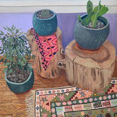 "Anna Valdez, 'Friends', oil on canvas, 50"" x 50"" inches. 2014"