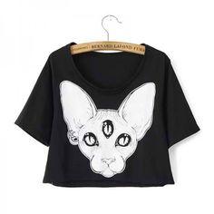 Camiseta Gato Esfinge / Sphynx Cat T-Shirt - Women - Fashion