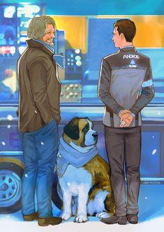 "pelcron on Twitter: ""Simpler days #DetroitBecomeHuman… "" Sumo, Wattpad, Ps4, Playstation, Chicken Feed, Anime Manga, Comic Manga, Detroit Become Human Connor, Bryan Dechart"